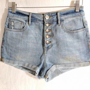 Kendall & Kylie High Waist Button Front Shorts